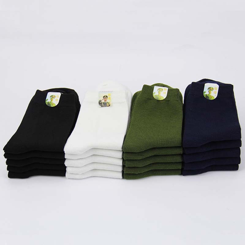 4 Pairs Autumn Winter Middle Tube Men Sock Thick Keep Warm Military Socks Breathable Wear Resistant Hosiery Wholesale