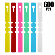 6 Colors Plant Labels, PVC Tags for Garden Adjustable Waterproof (600)