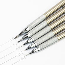 Stainless steel mechanical pencil 1.3 0.9 0.7 0.5 Black School student writing art painting professional pen