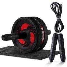 2 в 1 Ab ролик и Скакалка без шума брюшное колесо Ab ролик с ковриком для рук талии ноги упражнения тренажерный зал фитнес оборудование