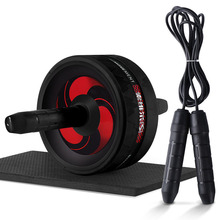 New 2 in 1 Ab Roller&Jump Rope No Noise Abdominal Wheel Ab Roller with Mat For Arm Waist Leg Exercis
