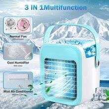 Fan Humidifier-Purifier Air-Conditioner-Fan Portable 3000mah Evaporative