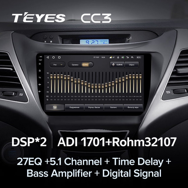 TEYES CC3 Штатная магнитола For Хендай Элантра 5 JK GD MD UD For Hyundai Elantra 5 JK GD MD UD 2010 - 2016 до 8-ЯДЕР, до 6 + 128ГБ 27EQ + DSP carplay автомагнитола 2 DIN DVD мультимедиа автомобиля головное устройство 4