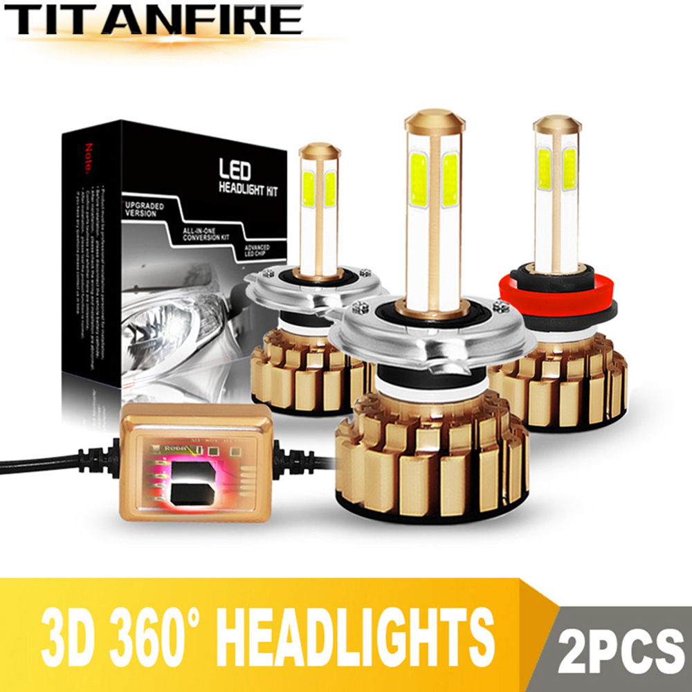 TF30 4 Sides 10000LM 100W H8 H11 9005 9006 H4 H7 LED Car Headlight Bulbs Canbus  Auto Led Headlamps Hi/Low C6 S2 12V/24V 6000K