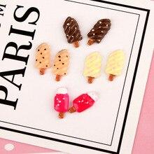 DECOCASE 30pcs Tasty Mini Popsicle Slime Charms Beads Headwear Flatback Crafts Ornaments Decoration Phone Case DIY Accessories