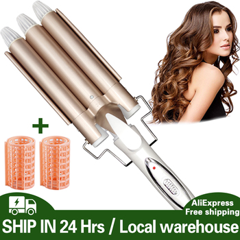 waves Curling hair curler Professional hair care & styling tools Wave Hair styler curling irons Hair crimper krultang iron 5