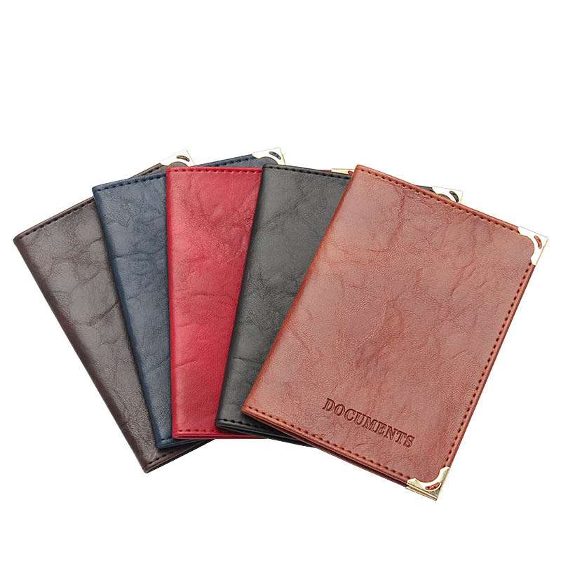Russian Vintage Auto Driver License Formal Bag PU Leather Cover for Car Driving Documents Card Credit Holder Case