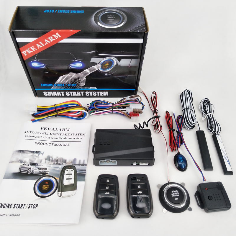 PKE Car Alarm System Kit Alarm Passive Keyless Entry Remote Start/Stop Engine Car Central Lock Auto Alarm System