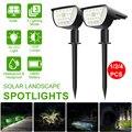 32 светодиодный обновленный солнечный светильник s, ландшафтный Точечный светильник s 2 в 1 IP67, водонепроницаемый, яркий, 3 режима, беспроводно...