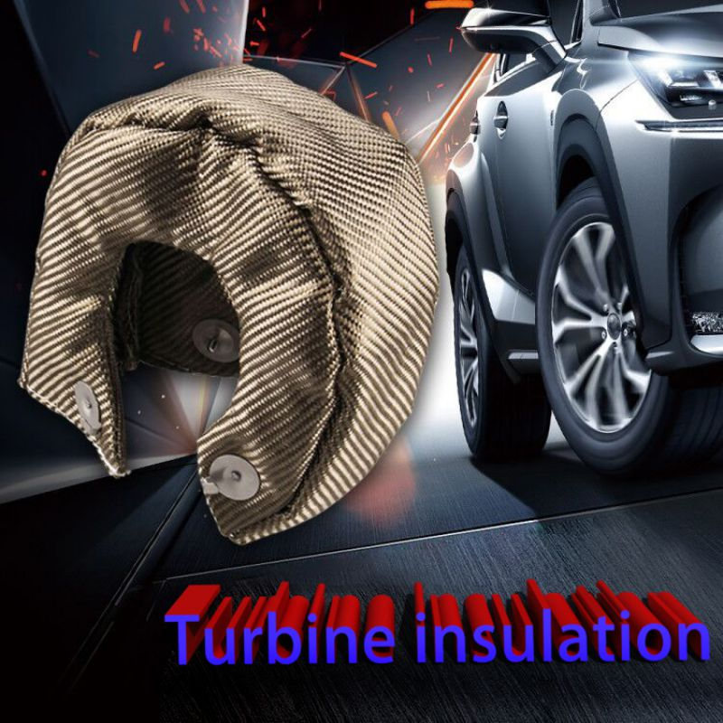 <font><b>T3</b></font> Titanium Turbine <font><b>Blanket</b></font> Heat Shield Cover Fiberglass Turbine Charger Cover Auto Replacement Parts image