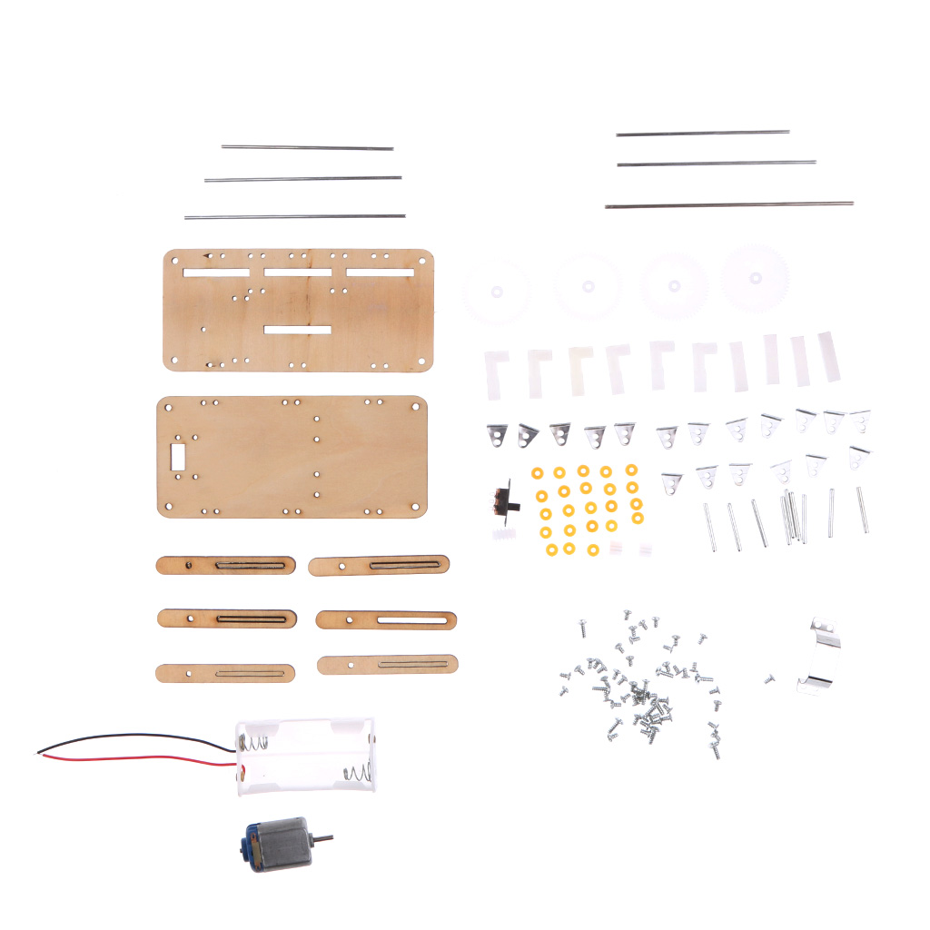 DIY Assembly Electric Walking Robot Toy Kit Kid Science Physics Educational Discovery Toys Children Teaching Aids