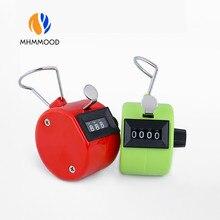 1 pçs cor aleatória 4 dígitos contadores mini contagem de treinamento acessórios portátil manual plástico mecânica contagem tools.9999