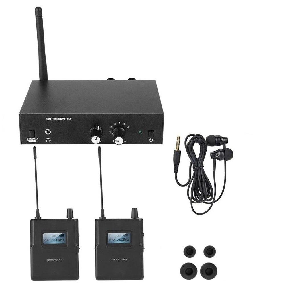 Для ANLEON S2 UHF стерео Беспроводная система монитора 670-680 МГц профессиональная цифровая сценическая внутриканальная система монитора с 2 прием...