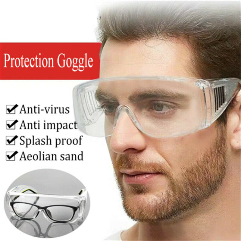 Anti Virus Safety Adult Goggle Clear Glasses Eye Protect Work Lab Anti Dust