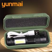 Led Flashlight Torch-Lamp Zoom Focus Adjustable Built-In-Battery Mini Xp-G q5 Waterproof