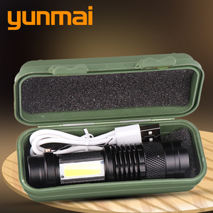 New arrive XP-G Q5 Built in battery Zoom Focus Mini led Flashlight Torch Lamp 2000 Lumens Adjustable Penlight Waterproof light(China)