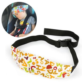 Children Head Protection Baby Chair Headrest Sleeping Support Holder Belt Baby Car Pillows Safety Car Seat Sleep Nap Head Band image