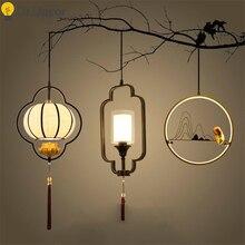 Chinese Vintage LED Pendant Lights Modern Corridor LOFT Art Home Decor Lamp Living Room Kitchen Hanging Lamps Luminaria