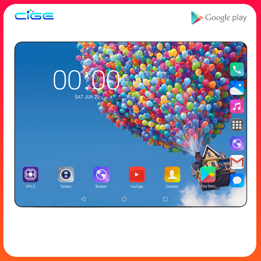 2020 10 Inch Android 7.0 4G LTE Cell Phone Tablet Pc 2GB RAM 32GB ROM Octa Core 2.5D Glass Screen Wifi GPS Tablets 10.1 Gifts