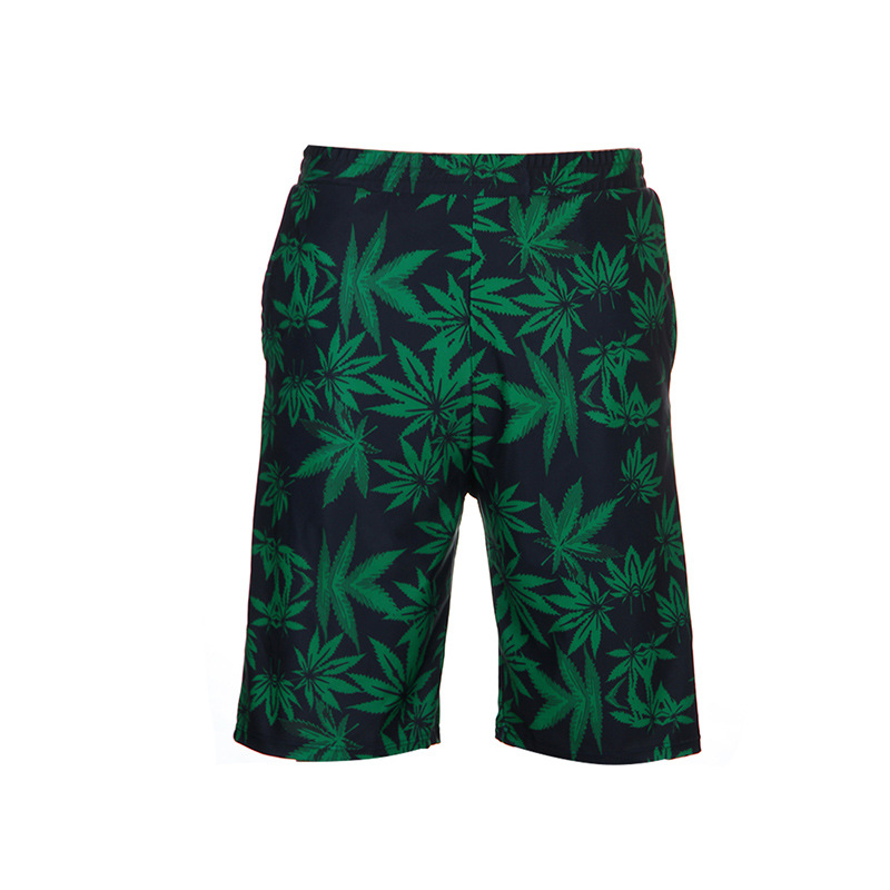 Qi Lu Bathing Suit 2018 New Style Men Fashion Printed Short Loose-Fit Beach Couples Swimming Trunks