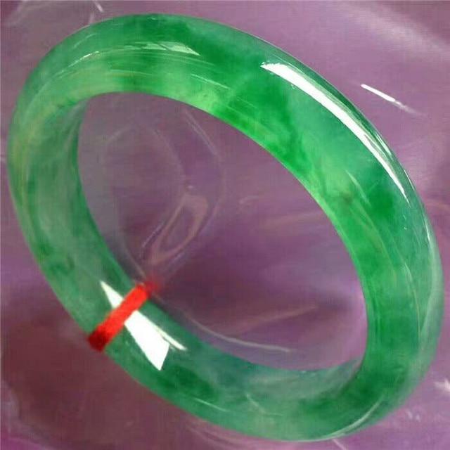 Bracelets avec jade vert du Myanmar naturel, avec fleur sculptée à la main, bijou pour femmes, jade émeraude, 2020