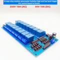 1 шт 16 канальный релейный модуль 5/12/24v оптрон выход 1-16 250V10A AC высокий и низкий уровень запуска ПЛК контрольная панель