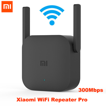 original xiaomi pro 300m 2 4g wifi amplifier with 2 antenna Xiaomi Mijia Wifi Repeater Pro 300M Mi Amplifier Network Expander Router Power Extender Roteador 2 Antenna Wireless Qos 2.4G