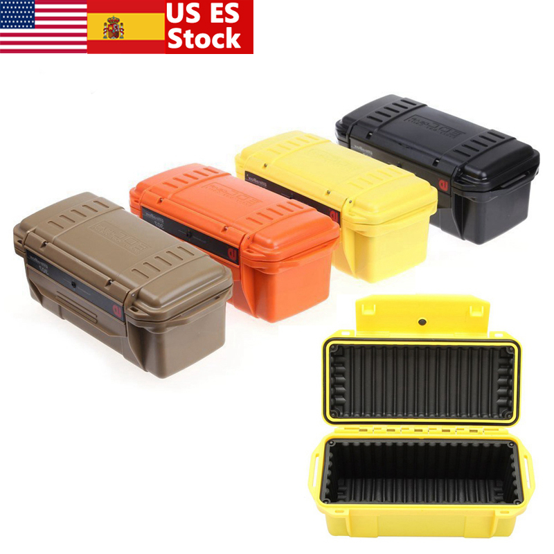 Outdoor Shockproof Waterproof Boxes Survival Airtight Case Holder Storage Matches Tools Travel Sealed Containers Colorful