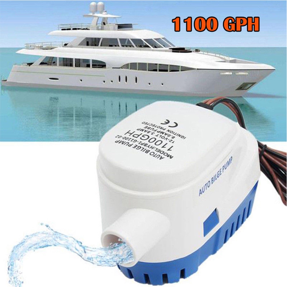 1100GPH 12V Electric Marine Submersible Bilge Sump Water Pump for Boat Yacht RV