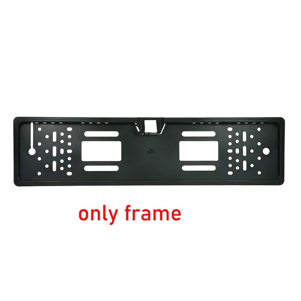 Беспроводная камера ночного видения IR заднего вида, ЕС, рамка для номерного знака, Автомобильная камера заднего вида, водонепроницаемая камера заднего вида для монитора, gps - Название цвета: EU-Frame