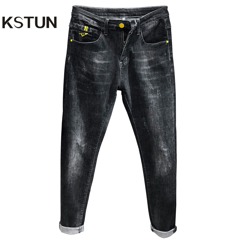 Skinny Jeans For Men Black Jeans Spring And Autumn Fashion Pockets Designer High Quality Famous Brand Yong Boys Students Jeans