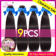 JARIN 9 Pieces lot Peruvian Straight Human Hair Extension 100 Remy Hair Bundles Deal 30 Inch Long Hair Weave Can Mix Length cheap Jarin Hair Peruvian Hair =15 Sew-in Natural Color 4-7 Working Days