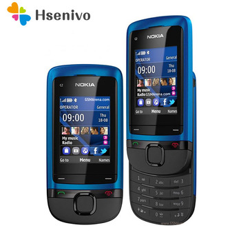 Перейти на Алиэкспресс и купить Оригинальный разблокированный сотовый телефон Nokia, Bluetooth, раздвижной, Восстановленный, с поддержкой Bluetooth, в виде слайдов, для c2-05