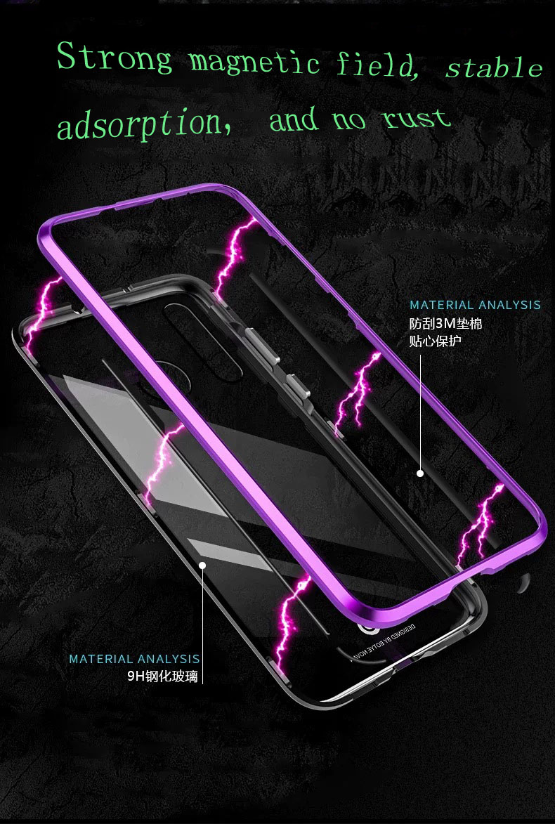 YonLinTan Coque cover Case For Xiaomi Mi 8 Se lite 8Se 8lite MI8 Metal magnetic Frame tempered glass Hard phone Back Covers in Half wrapped Cases from Cellphones Telecommunications