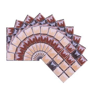10*10cm Mosaic Self Adhesive Tile Wall Stickers Vinyl Bathroom Kitchen Home Decoration DIY PVC Stickers Decals Wallpaper 10pcs 19