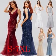 Bridesmaid-Dresses Ever Pretty Burgundy Mermaid Elegant Women Sleeveless V-Neck Formal