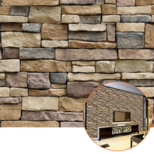 45cm*100cm Simulation Lithographic Brick Wallpaper 3d Pvc Removable Wall Sticker Home Green Decor House Bedroom