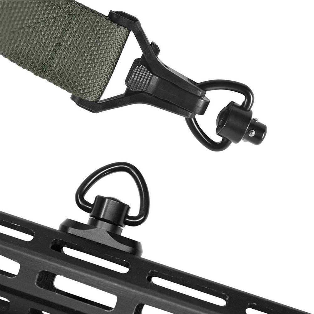 新バージョンqdライフルスリングレールスイベルスコープマウントクイックリリースバックルヘビーデューティープッシュボタンスイベル狩猟銃アクセサリー
