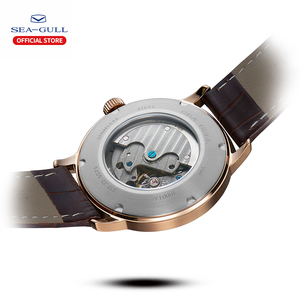Image 3 - Seagull Business Watches Mens Mechanical Wristwatches 50m Waterproof Leather Valentine Male Watches 519.12.6075