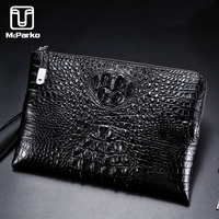 McParko Luxury Crocodile Envelope Clutch Wallet Bag For Male Genuine Leather Wallet Men Brand New Businessman Handy Wallet Day Clutches Elegant Design
