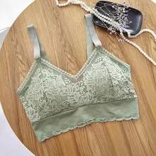 Women Bras Underwear Push-Up-Bra-Set Seamless Lace Nylon Female Onesize 3pcs Okwish Spandex