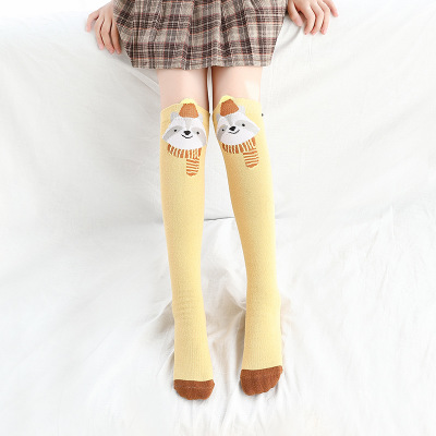 Носки для маленьких девочек; Хлопковые гольфы с изображением лисы; милые Гольфы с рисунком; детская одежда; носки для обуви для малышей; Носки с рисунком - Цвет: 6