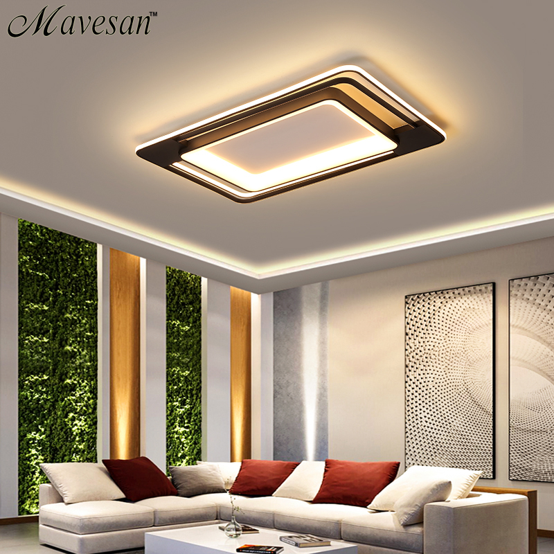 LED Ceiling Lights For Living Room Bedroom High-quality Aluminum Frame Ceiling Lamp With Remote Dimmable AC85-260V