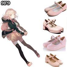 Danganronpa 2 nanami chiaki cosplay sapatos botas festa de natal do dia das bruxas sapatos rosa