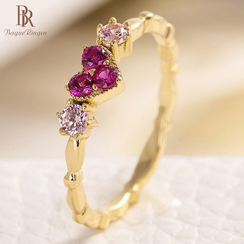 Bague Ringen Heart Shape 925 Sterling Silver Rings Fashion Ring Woman AAA Zircon Jewelry Anniversary Valentines Gift For Girl