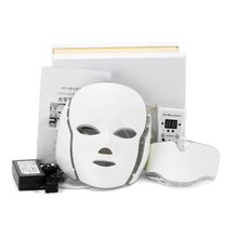 Led Facial Mask With Neck Skin Rejuvenation Face Care Treatment Beauty Anti Acne Therapy Whitening Instrument