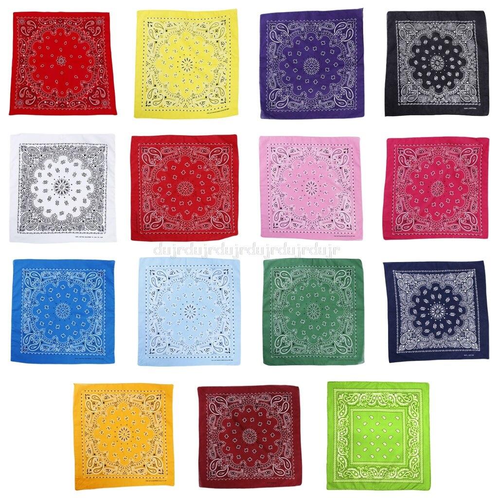 15 Color Ethnic Hip Hop Bandana Handkerchief Retro Location Paisley Floral Print Unisex Sport Cycling Square Au31 19 Dropship