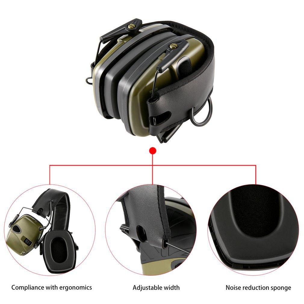 Уличные безопасные Тактические электронные наушники для стрельбы, наушники с защитой от шума, усиление звука, складные наушники-4