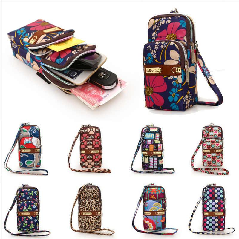 Monedero cruzado pequeño multicolor para mujer, bolso de hombro para niñas, tela Oxford, fundas de teléfono móvil, triangulación de envíos