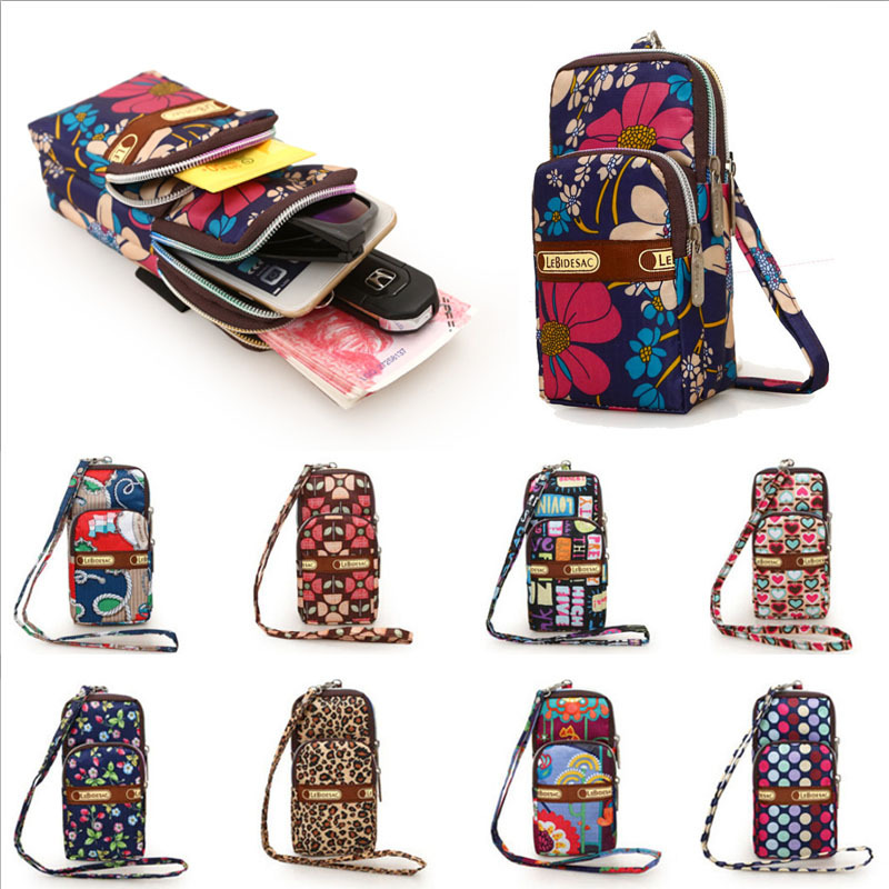 Multi-color Small Cross Body Coin Purse For Womens Shoulder Bag Girls Oxford Cloth Cell Phone Bags Dropshipping
